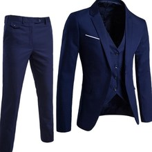 Men''s suit+pants+vest Tuxedo Suit Male Suits formal clothes