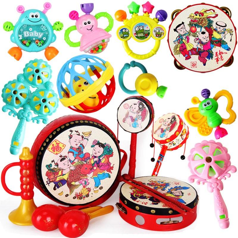挂摇摇挂件月男1男童铃铛娃娃婴儿玩具套装一1岁8个月球球男孩子
