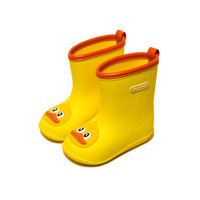 Baby raincoat rain boots set 2 children rain boots boys 1-3 years old children children non-slip children glue shoes girls