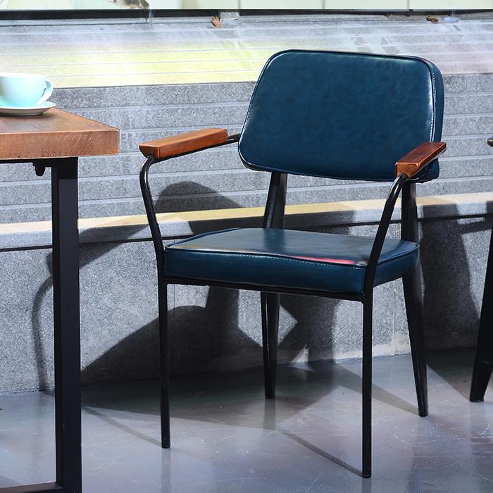 loft椅复古工业风餐厅餐椅咖啡厅休闲靠背铁艺椅子设计师创意家具
