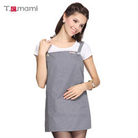 T.e.mami expectant mother pregnant women radiation suit vest metal fiber anti-radiation maternity dress vest