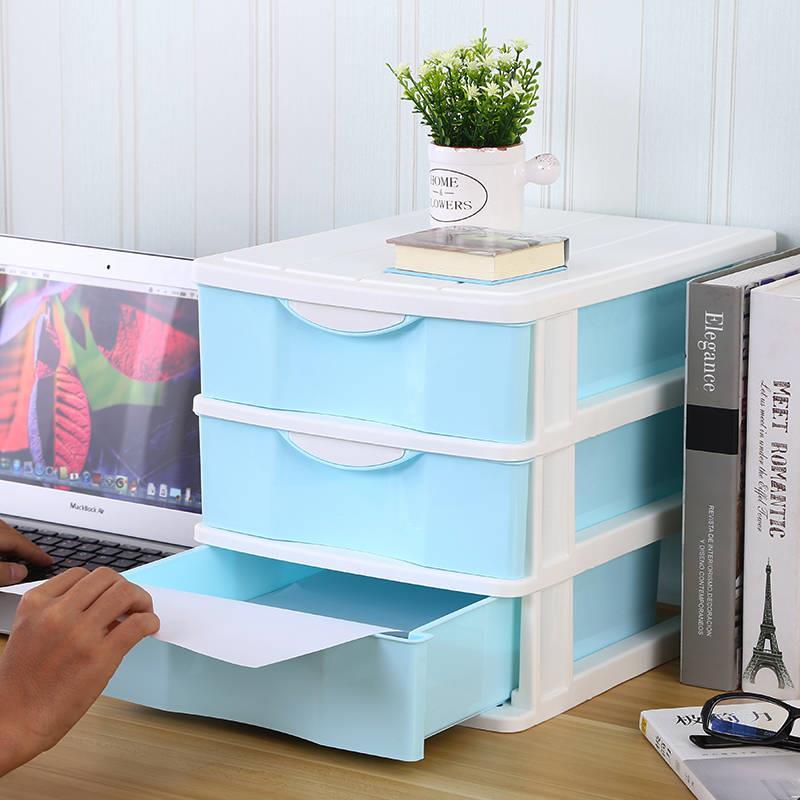 简约大号办公桌面收纳盒文件A4纸收纳柜护肤品首饰抽屉式收纳盒