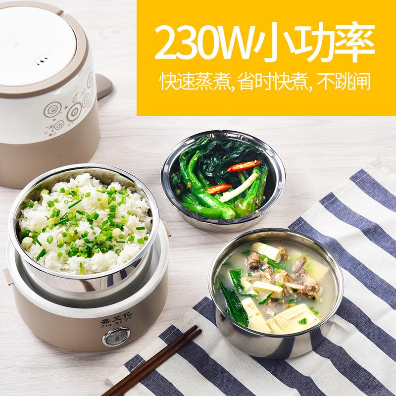 嘉艾亿电热饭盒可插电保温加热饭神器迷你小型蒸煮带饭锅饭煲1人2