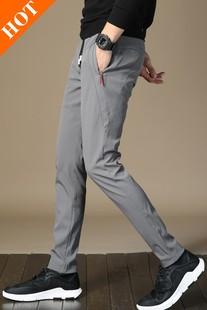 ?#38386;?#20914;量男士弹力束绳宽松休闲裤若奔雅媗服饰专营店男装