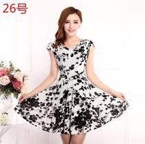 中式中年妈妈连衣裙短款女士夫人凉爽加大码睡衣超仙清新弹性女装
