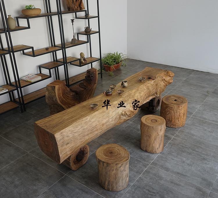 原木泡茶桌香樟木根雕茶台天然树根整体茶几功夫茶台异形原生态