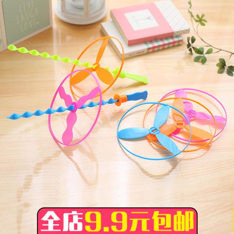 飞天仙子儿童户外创意80后怀旧地摊男孩小礼物竹蜻蜓玩具六一礼品