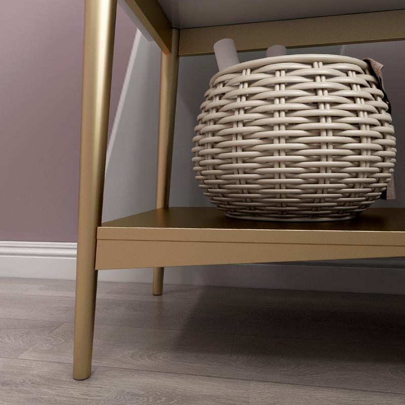 北欧实木梳妆台现代简约网红化妆台书桌一体小户型卧室ins化妆桌