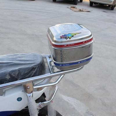 后备箱款不锈铁长方形后尾箱 半圆形通用电动车自行车折叠车