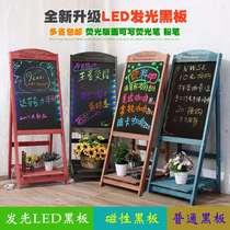 实木框黑板挂式小教室创意家用咖啡店奶茶店教室教学磁姓学生学校