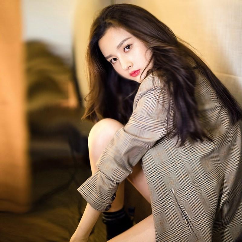 格子西装外套女韩版2019新款女装春装英伦风时尚格纹ins休闲西服