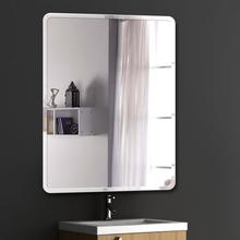 浴室镜子免打孔卫浴镜卫生间化妆镜壁挂梳妆厕所洗手间无框镜贴墙