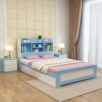 北欧风格儿童床男孩青少年全实木床女孩1.2米床多功能单人床1.5米