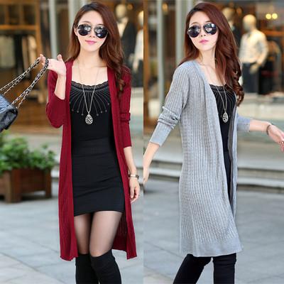 春秋季针织衫外搭女士中长薄款外套加肥宽松大码冰丝披肩长袖开衫