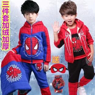男童2冬装3蜘蛛侠4童装休闲5套装6儿童7衣服8中小童9岁冬季三件套