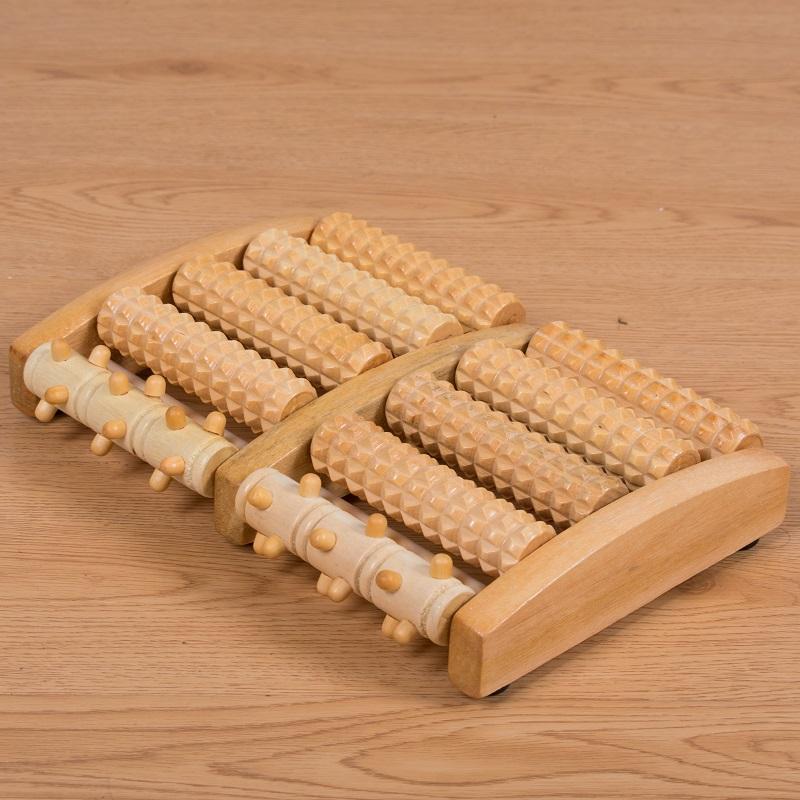 实木脚底按摩器滚轮式木质按摩足底足部腿部穴位按摩器木制足疗机