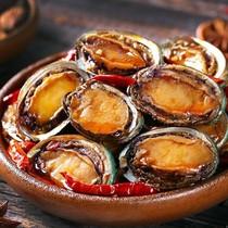 獐子岛虾夷全贝开袋即食大连海鲜零食特产麻辣味小包装虾夷扇贝肉