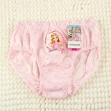 Ice and Snow Margin Children's Underwear Girls 3 Triangle Pants Cotton Baby Girls Cartoon Pants Short Heads