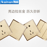 86 type dark phone computer socket home phone network cable two-in-one wall switch socket panel champagne gold