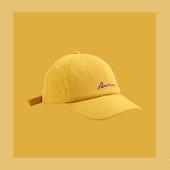 近期每天戴的芒果黄棒球帽炒鸡好看潮帽子男女ins鸭舌帽遮阳百搭