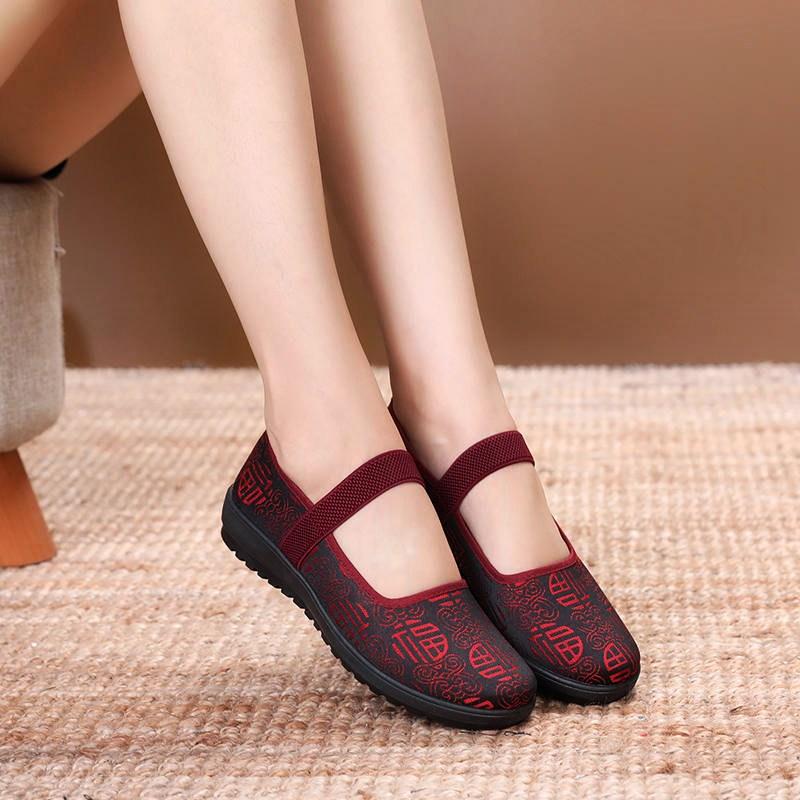 60-70岁中老年妈妈鞋北京布鞋女鞋防滑软底2018新款70-80岁奶奶鞋