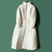 2018反季新款复古立领气质长款松紧腰显瘦羽绒服女特价款YR91008