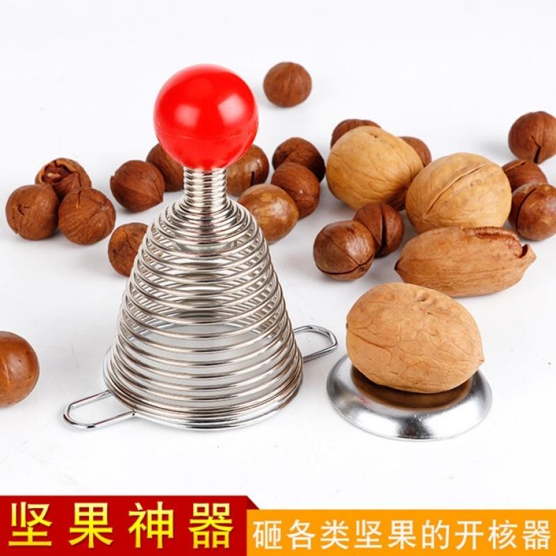 不锈钢多功能弹簧核桃夹坚果开壳器核桃剥壳器不锈钢弹簧开核桃器