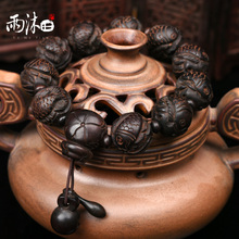 Natural lightning strikes peach trees auspicious and wishful hand strings to ward off evil spirits and recruit money to transfer ferret bracelets, men's Buddha beads hand strings safe