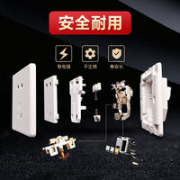 Bull switch socket type 86 home switch socket panel wall concealed usb five hole socket switch panel