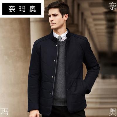 奈玛奥男款时尚棉衣2018韩版中年拉链长袖立领保暖舒适男装外套潮