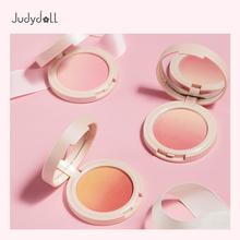 Judydoll橘朵渐变腮红蜜桃三色自然裸妆显白提亮肤色高光02胭脂盘
