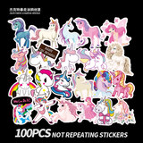 100 unicorn sticker travel box notebook personalidad skateboard stickers bagahe stickers waterproof tide card