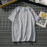 Painting Shanlong Japanese Department of music music brand men's t-shirt short-sleeved shirt couple solid color cotton shirt summer student t-shirt