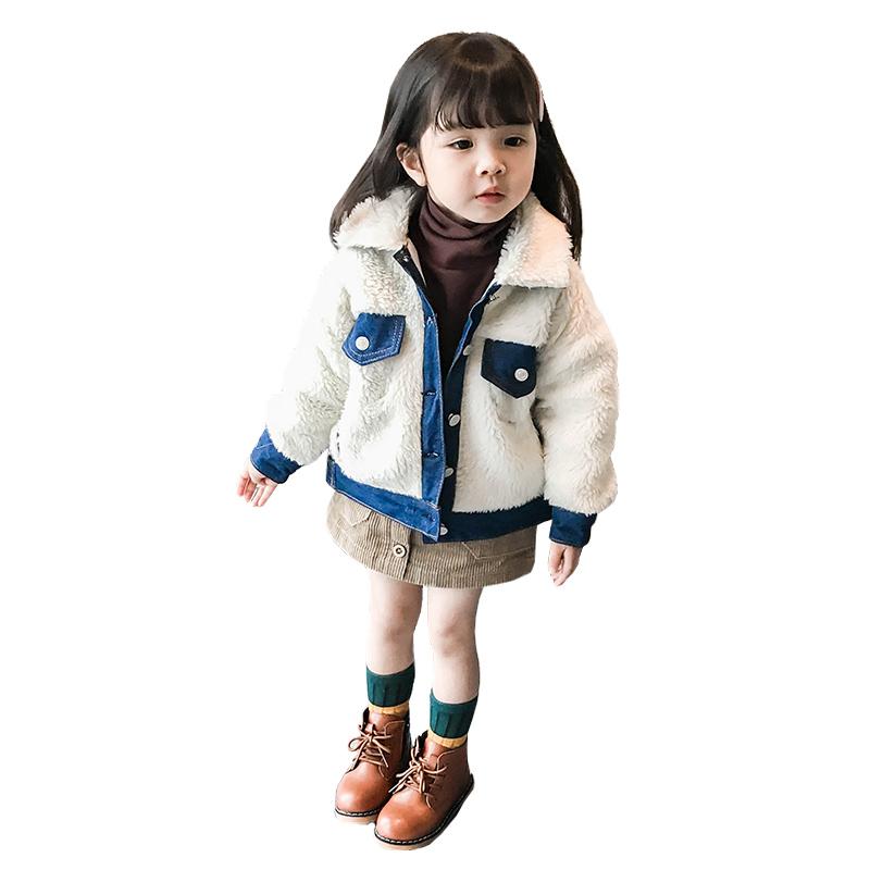 女童秋装2018新款韩版潮衣洋气女宝宝1-3岁4秋冬季牛仔毛毛衣时髦