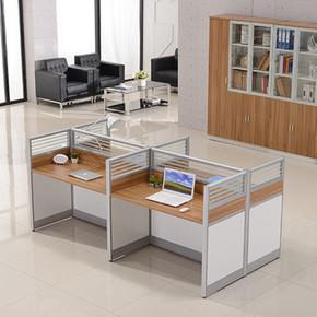 屏风办公桌6/8人位 职员办公桌4人位卡位工作位隔断员工桌椅