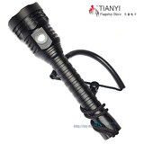 Bright light waterproof flashlight 18650 charging high-power flashlight ultra-bright XHP-70 second-generation diver power