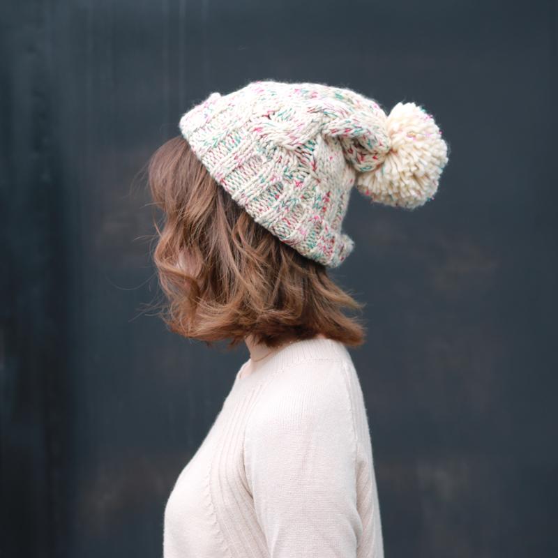 彩色护耳针织帽