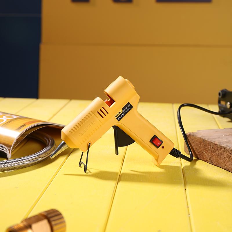 得力工具热熔胶枪40W60W万能家用儿童DIY热溶枪7mm 11mm胶棒