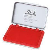 Deli 9891 pad printing ink stamping desk office financial supplies metal shell red stamp pad large medium and small