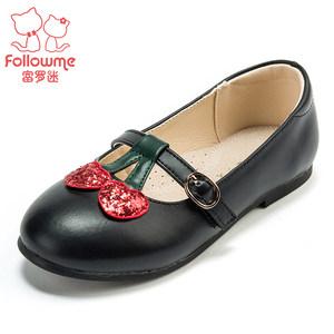 富罗迷儿童鞋小女童鞋子皮鞋单鞋公主鞋韩版真皮2018秋季新款黑色