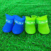Dog rain boots pet waterproof anti-dirty Teddy Keji wear-resistant shoes medium-sized dog puppy out of the shoe cover large dog