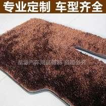 超柔加密防滑免洗 南韩冰丝地毯长毛亮丝金丝绒汽车脚垫 后备箱垫