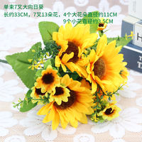 Dried flower simulation bouquet plastic flower fake flower small bouquet decoration flower arrangement flower cloth flower bouquet decoration