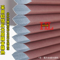 Helen electric honeycomb curtain sunroof sun room sunshade cooling soundproofing curtain glass room ceiling curtain manual