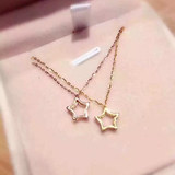 18K gold natural South African diamond star pendant necklace collarbone chain woman fashion hundred send certificate