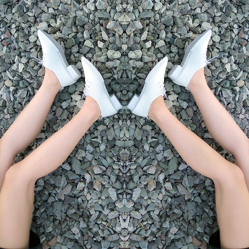 韩版低跟系带小皮鞋