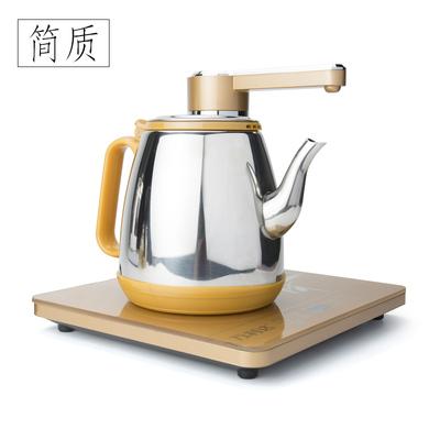 简质自动上水煮茶器家用不锈钢电茶炉简约茶具茶道配件电热烧水壶
