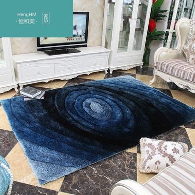 恒和美 新款高档蓝色漩涡现代欧式客厅地毯 沙发地毯 茶几垫