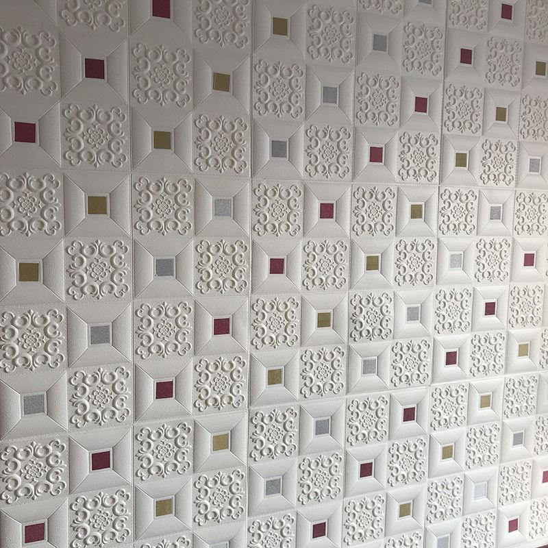 墙纸自粘3d立体墙贴软包儿童房客厅卧室电视背景墙天花板吊顶装饰