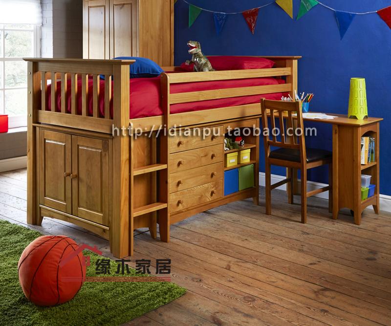 学习床儿童床 多功能